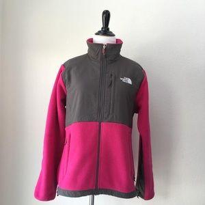 The North Face Pink & Grey Denali Jacket/Coat